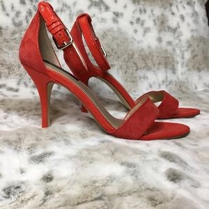 WHBM ANKLE STRAP HEELS NEVER WORN SUEDE 8.5